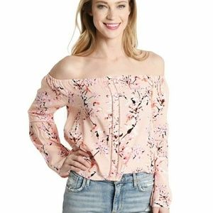 Cupcakes and Cashmere Pink Floral Print Top QG46